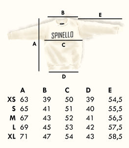 Spinello Shop - Size Guide