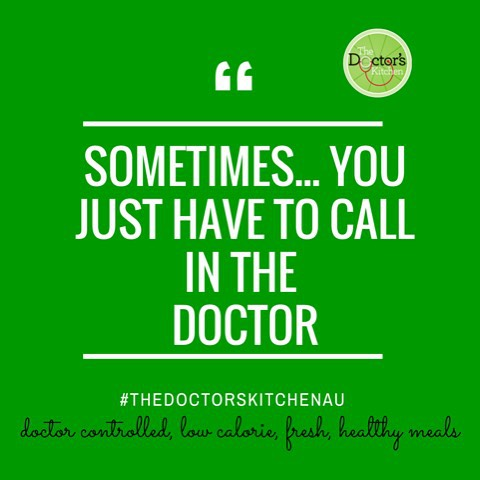 Sometimes… you just have to call in the doctor.