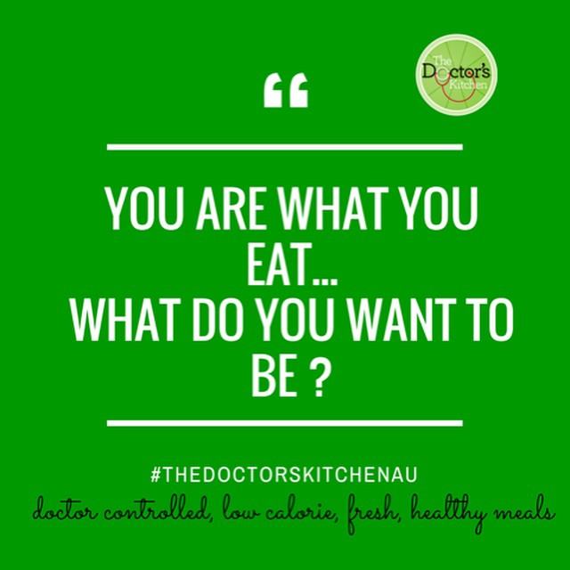 You are what you eat… What do you want to be?