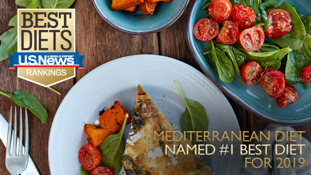 GOLD: Mediterranean diet named NO. 1 BEST DIET for 2019