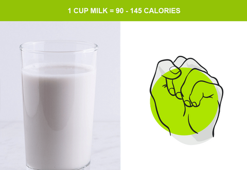 cup of milk and serving size