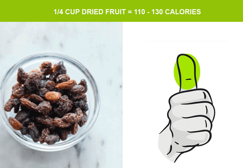 dried fruit and serving size