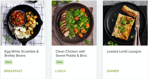 Sally's day on a plate using the Doctor's prescribed weight loss meals