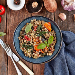 Pearl Barley & Roast Vegetable Risotto