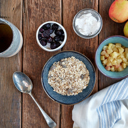 Bircher Muesli w/ Apple Juice & Coconut Yoghurt