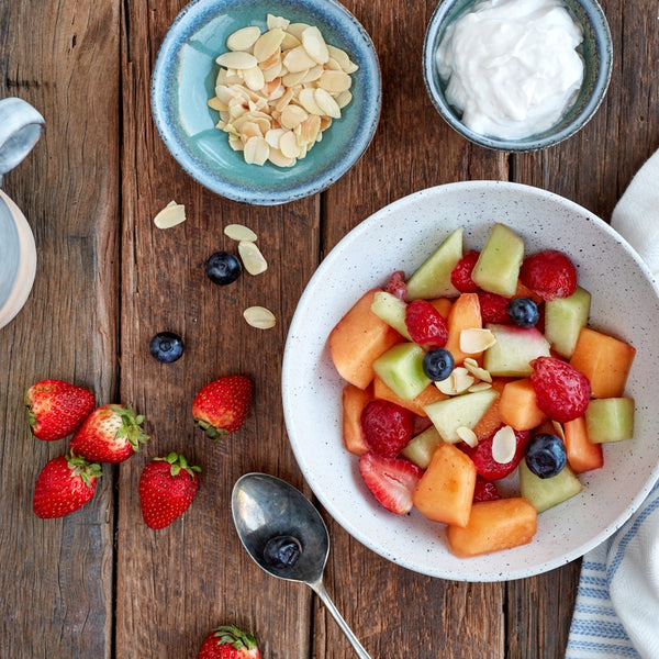 Black Forrest Fruit Salad w/ Almonds & Yoghurt