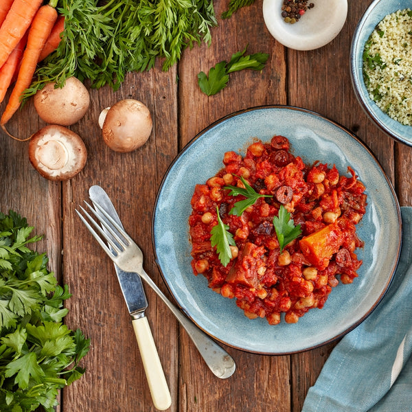 Moroccan Chickpea & vegetable Tagine W/ Cous Cous