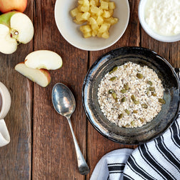 Gluten Free Muesli & Almond Milk w/ Apple