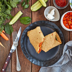 Roast Pumpkin, Fetta & Spinach Sweet Potato Wrap