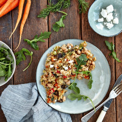 Roast vegetable & Fetta freekeh Salad