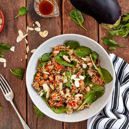 Roast vegetable Quinoa Salad W/ Balsamic
