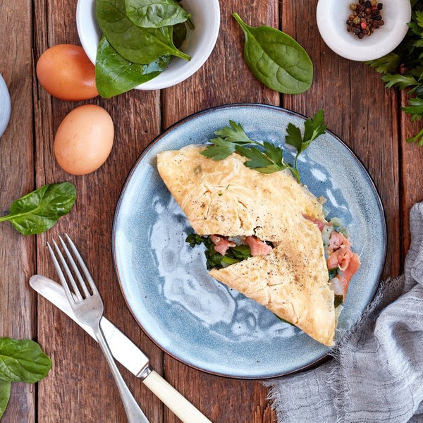 Smoked Salmon, Spinach & Caper Omelette