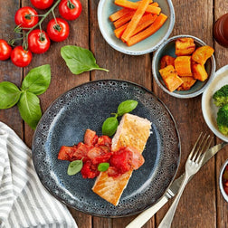 Atlantic Salmon, Pepperonata & vegetables