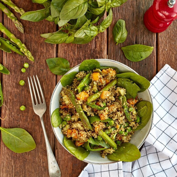 Grilled Asparagus & Chilli Pesto Quinoa