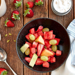 Fresh Fruit Salad, Pepitas & Coconut Yoghurt