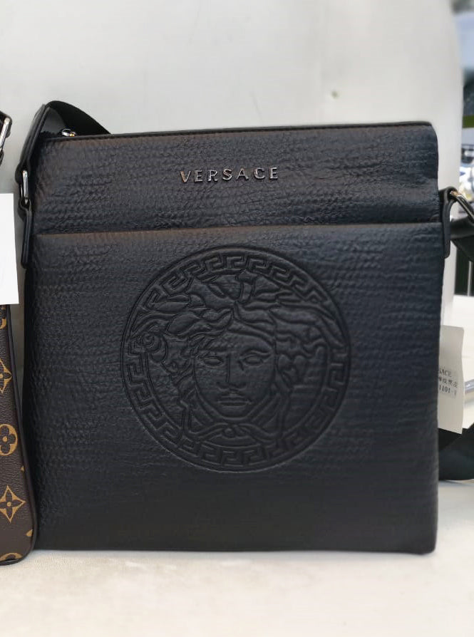9cea8a0de1 versace Messenger Bag for man black