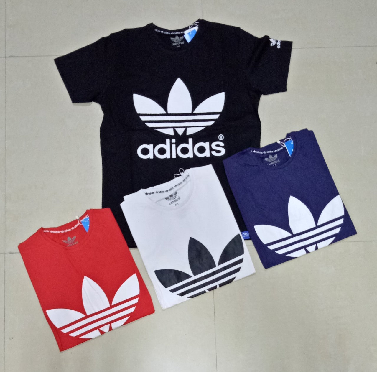 4a7584d7 adidas leaf T-shirt With large Logo Multiple Colors,sizes - JOO Dubai