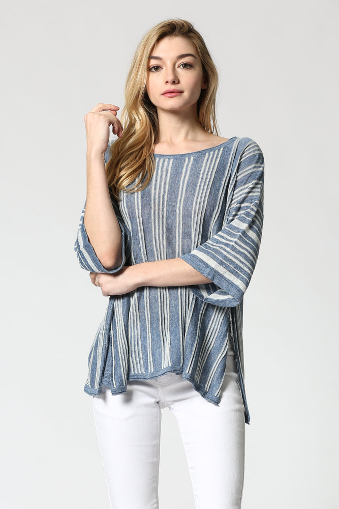 Striped Linen Sweater