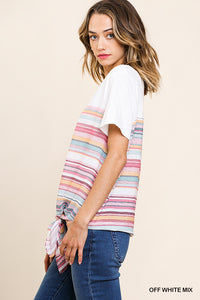 Short Sleeve Stripe with Knot