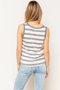 Striped Front Knot Tank