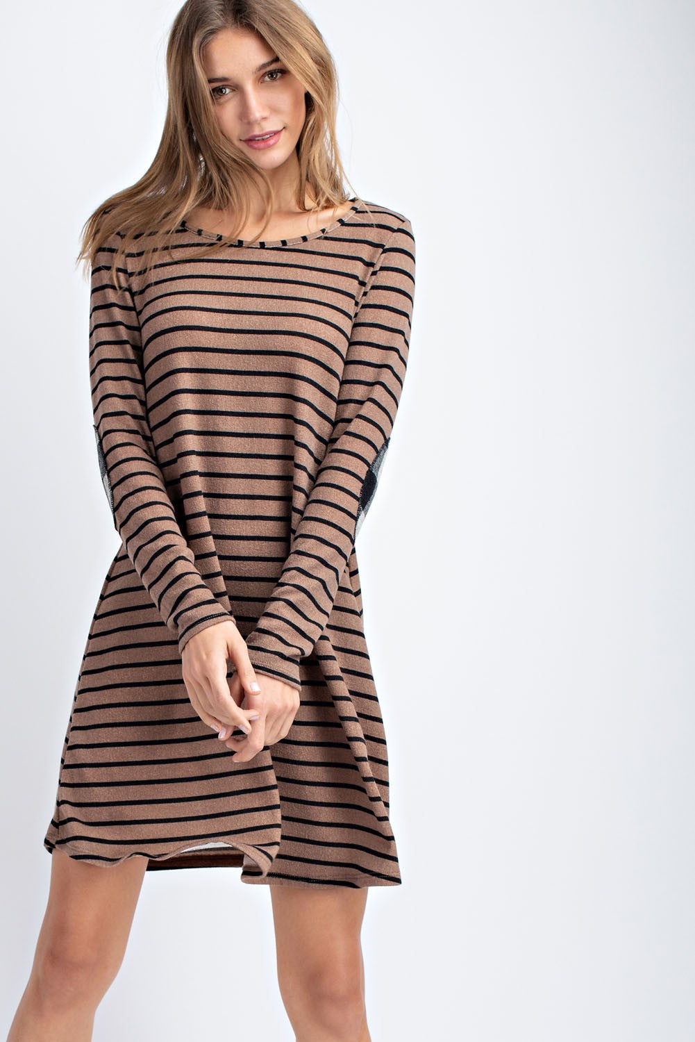 Mocha Striped Dress