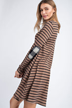 Load image into Gallery viewer, Mocha Striped Dress