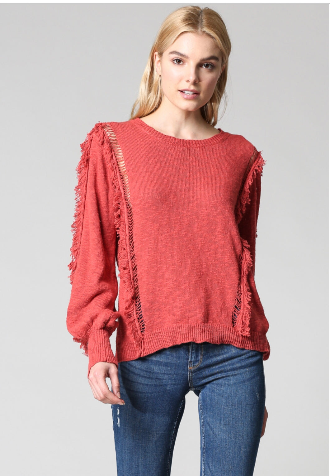 Light Weight Fringe Sweater