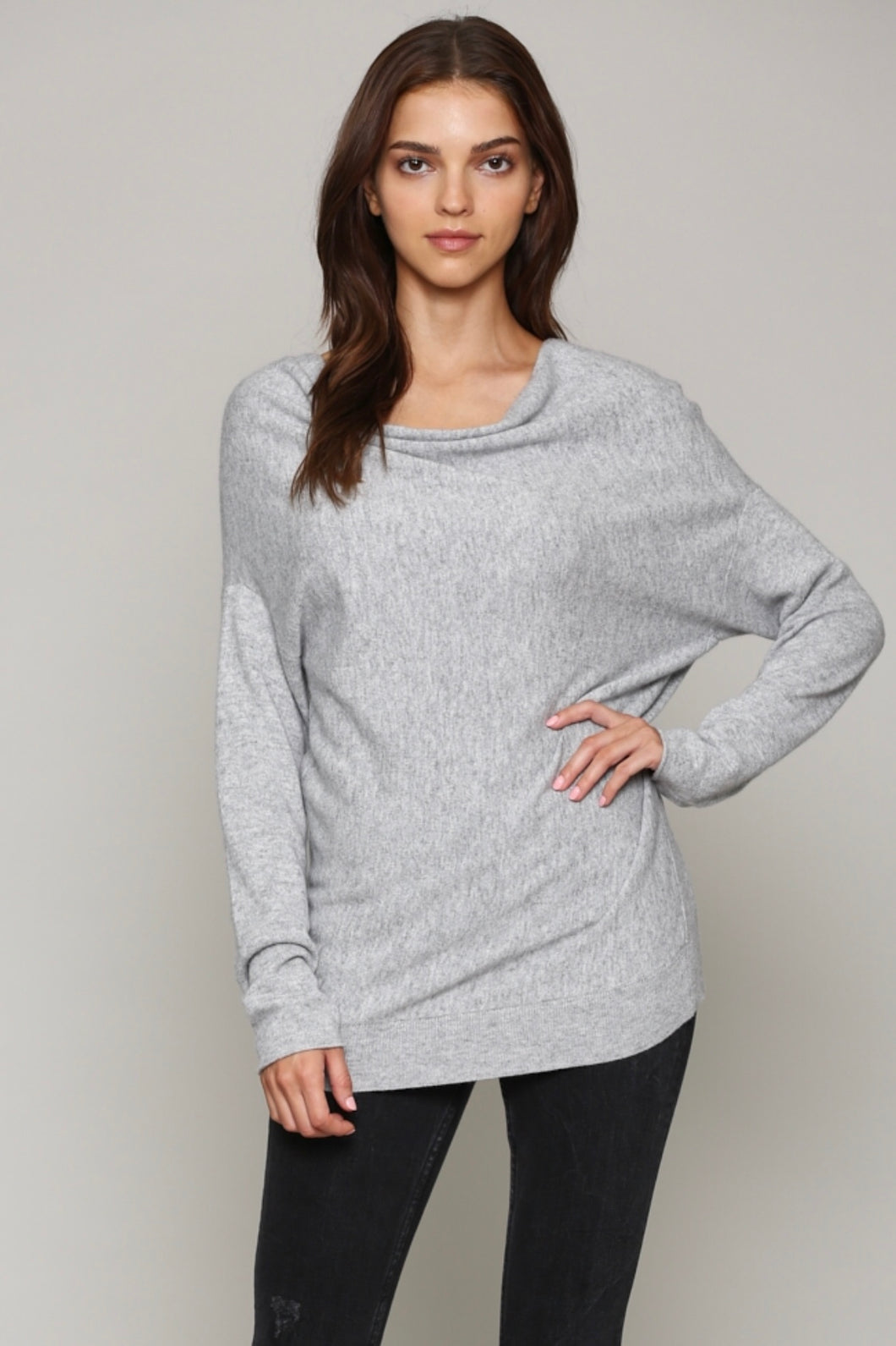 Cashmere Cowl Neck Sweater