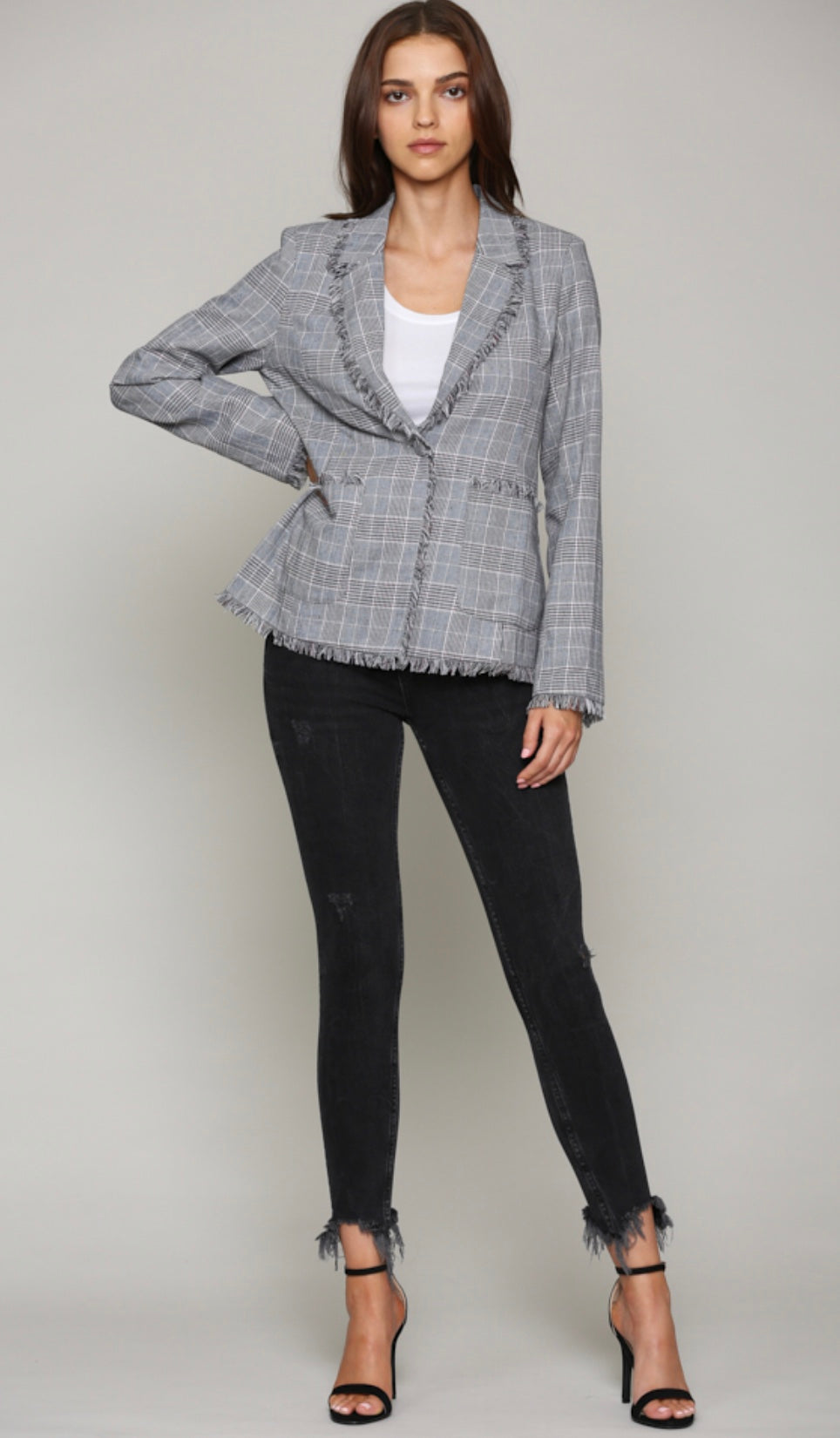 Tweed Double Pocket Blazer