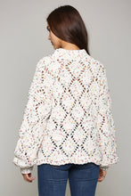 Load image into Gallery viewer, Diamond Stitch Pom Pom Sweater