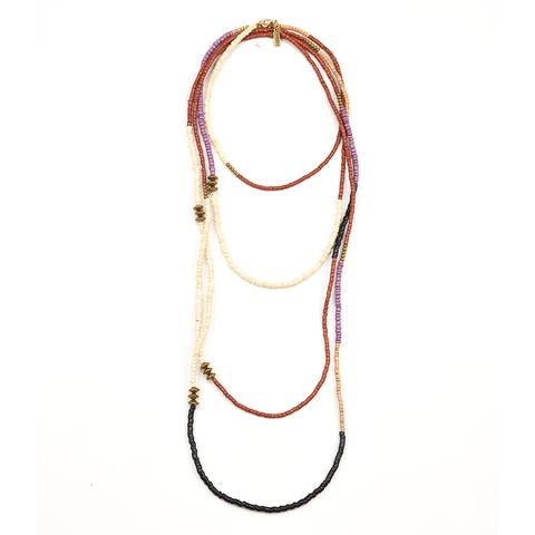 Simple Color Block Long Necklace
