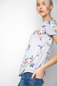 Short Sleeve Floral Top