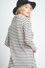 Load image into Gallery viewer, Striped Cowl-Neck Top