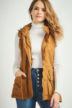 Load image into Gallery viewer, Fur Lined Hooded Vest