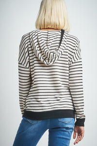 Long Sleeve Striped Miru Hoodie