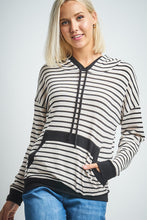 Load image into Gallery viewer, Long Sleeve Striped Miru Hoodie