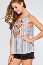 Load image into Gallery viewer, Halter Neck Embroidered Top