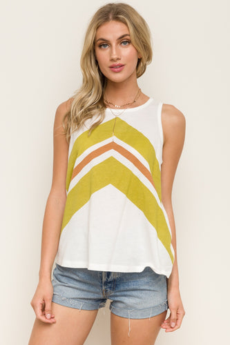 Printed tanic top