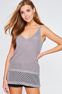 Mesh Trim Cami Top