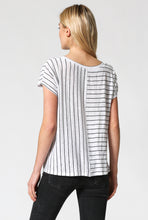 Load image into Gallery viewer, Striped top with twisted front
