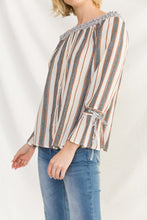 Load image into Gallery viewer, Off Shoulder Stripe Top