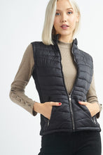 Load image into Gallery viewer, Black Puffer Vest
