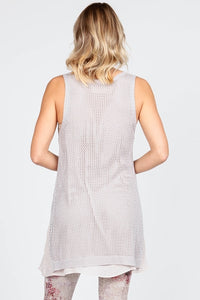 Crocheted Tank - Vintage Grey