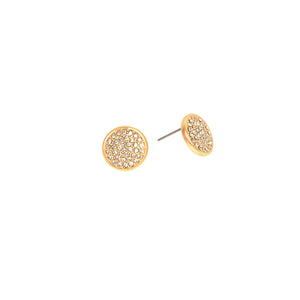 Rose Gold Pave Stone Earrings