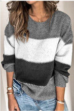 Load image into Gallery viewer, Loose Fit Block Sweater - One Large Left