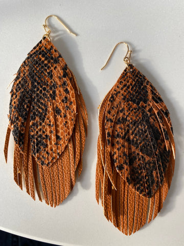 Animal Print Feather