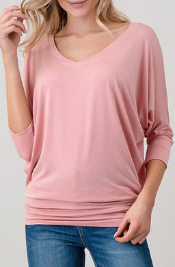 Natural Life - V Neck Top- Made in USA