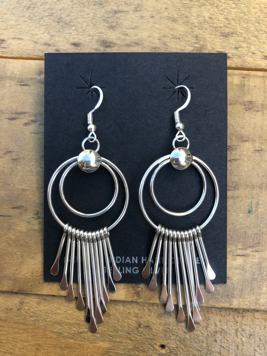 Handcrafted Sterling Silver Earrings - Large