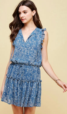 Dusty Blue Mini Dress