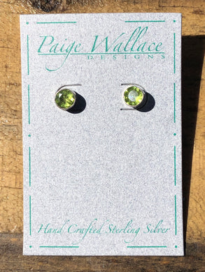 Sterling Silver Gem Stud Earrings